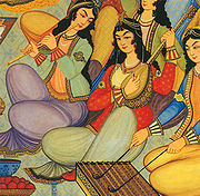 Iranian women, painted in 1669