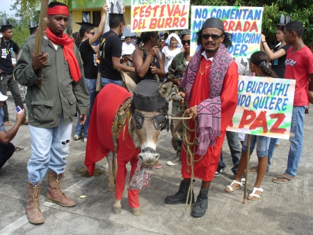 'Gaddafi' and his lot won the mister donkey elections