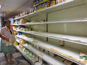 Een supermarkt in de hoofdstad Caracas